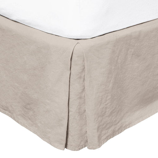 French Flax Linen Valance Pebble by Bambury