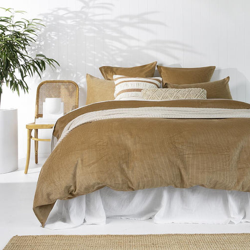 Sloane Quilt Cover Set Butterscotch by Bambury