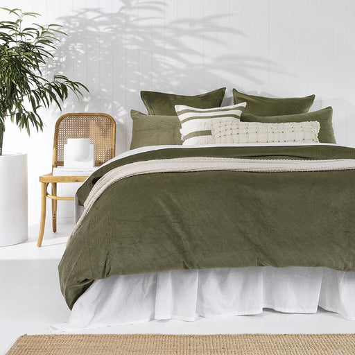 Sloane Quilt Cover Set Olive by Bambury