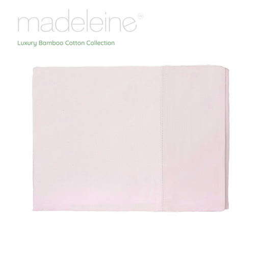 Madeleine Hotel Linen Bamboo Cotton Sheets Set - Blush