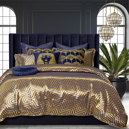 Cairo Gold Quilt Cover Set By Davinci