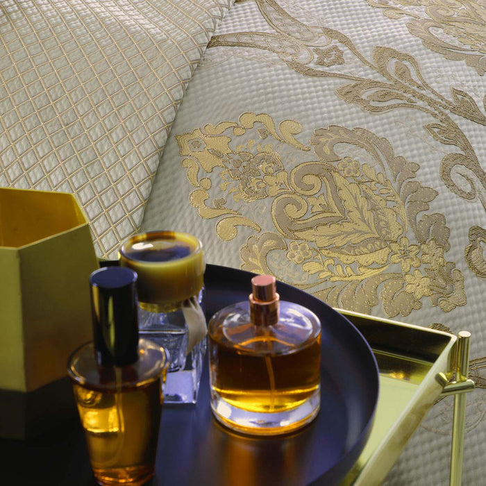 Castille Gold Quilt Cover Set by Davinci