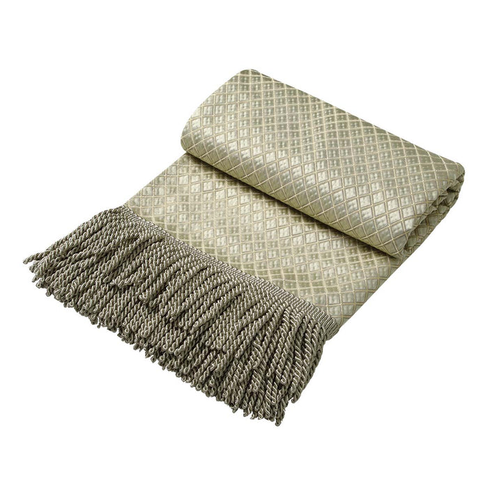 Castille Gold fringed throw