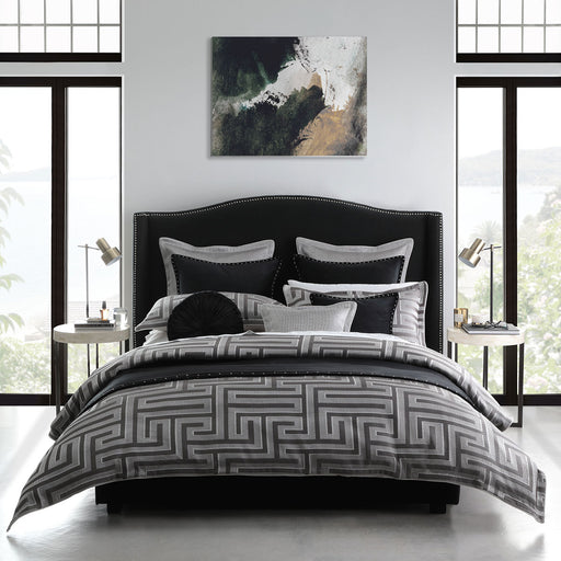 Christo Pewter Quilt Cover Set by Davinci