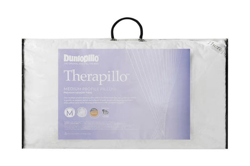 Dunlopillo Therapillo Memory Fibre Medium Profile Pillow