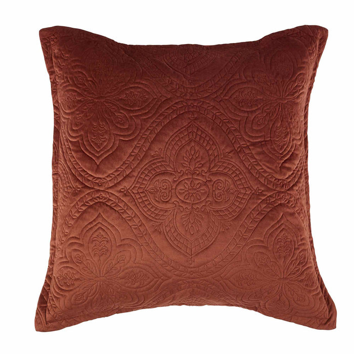 Dynasty European Pillowcase Terracotta by Bianca