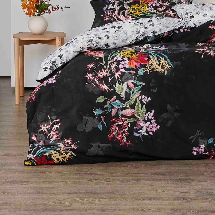 Dendy Black Quilt Cover Set by Logan and Mason