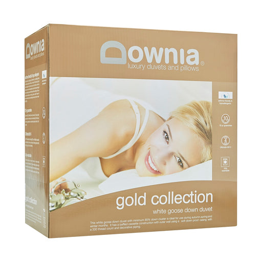 Gold Collection White Goose Down Quilt Doona Duvet by Downia