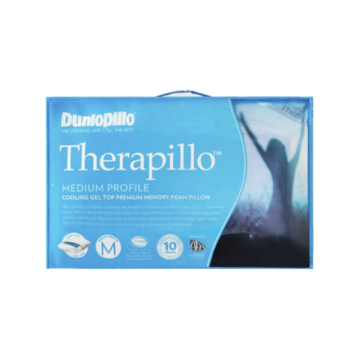 Dunlopillo Therapillo Cooling Gel Top Memory Foam Medium Profile Pillow