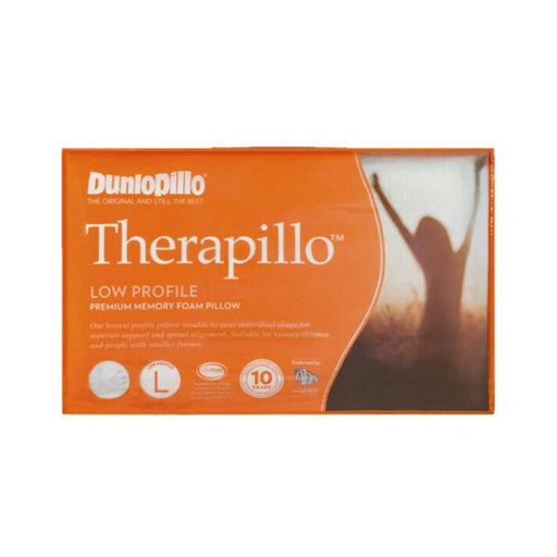 Dunlopillo Therapillo Low Profile Memory Foam Pillow