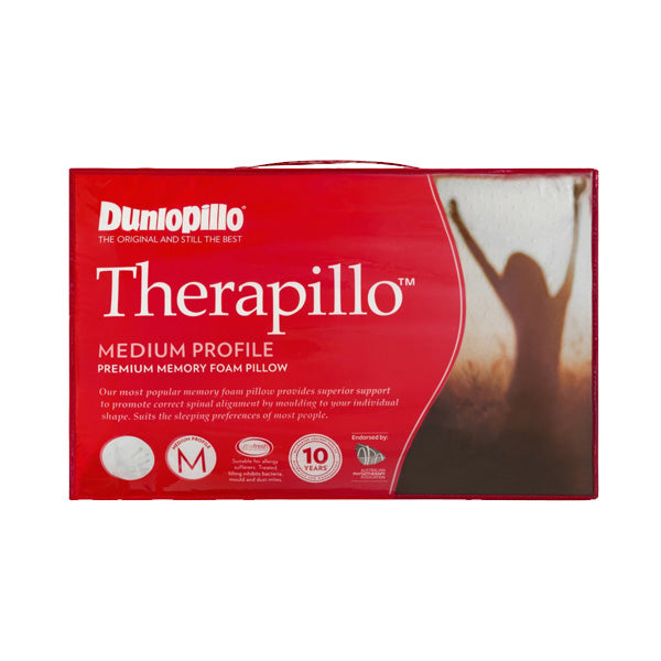 Dunlopillo Therapillo Premium Memory Foam Medium Profile Pillow