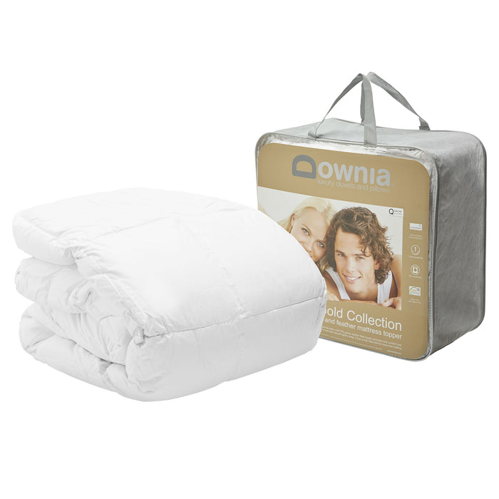 Downia Gold Collection White Goose Down and Feather Mattress Topper