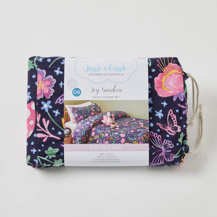 Ivy Garden Quilt Cover Set by Jiggle & Giggle