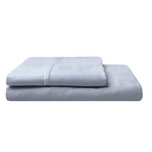 300TC Cotton Percale Fitted Sheet and Pillowcase Combo Denim by Logan and Mason