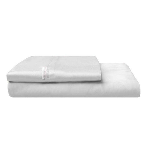 300TC Cotton Percale Fitted Sheet and Pillowcase Combo Silver by Logan and Mason