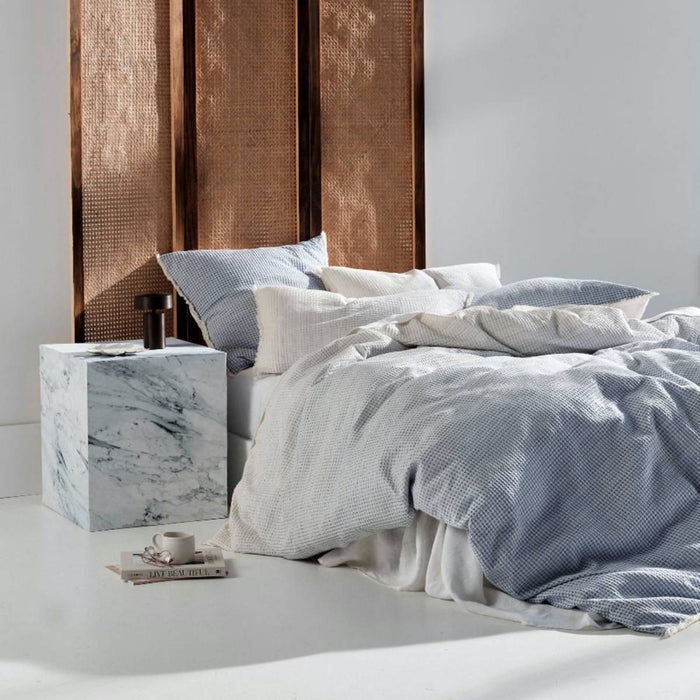 LAGOS BLUE QUILT COVER SET BY LINEN HOUSE
