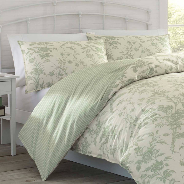 Natalie SAGE Quilt Cover Set by Laura Ashley
