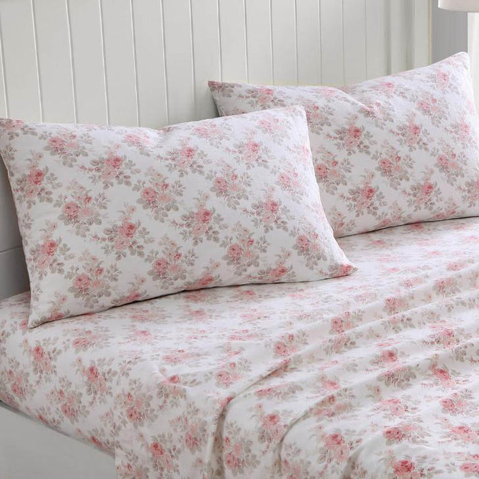 Lisalee Flannelette Quilt Cover Set by Laura Ashley