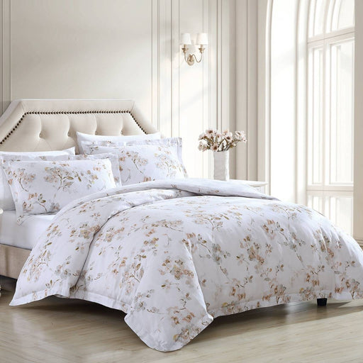 Lorene NATURAL Quilt Cover Set by Laura Ashley