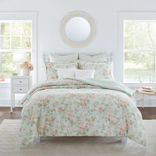Madelynn DUCK EGG Quilt Cover Set by Laura Ashley