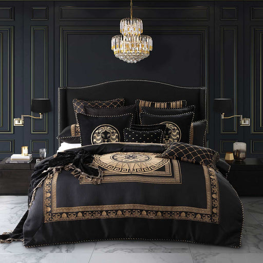 Massimo Black Quilt Cover Set by Davinci