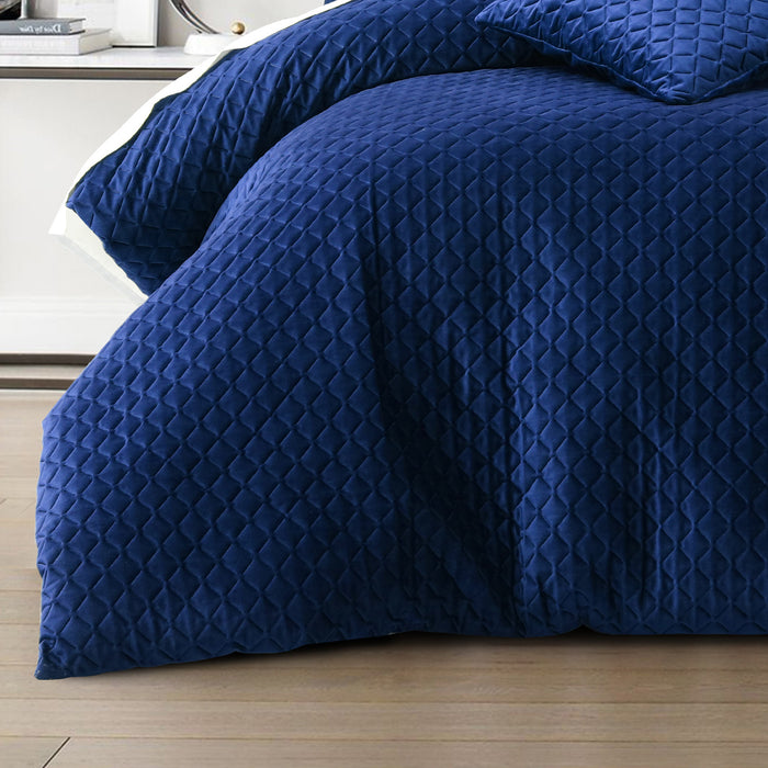 Alden Indigo Quilt Cover Set by Bianca