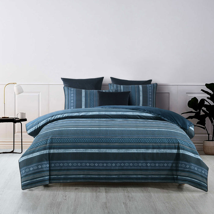 Como Teal Quilt Cover Set by Bianca