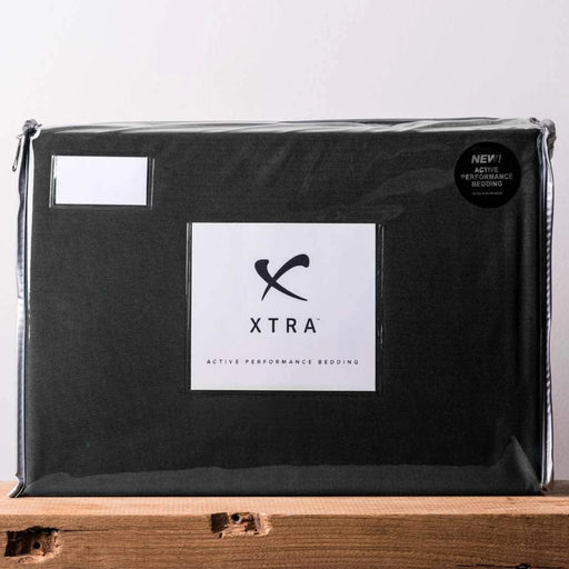 Xtra Active Reversible Quilt Cover Sets - Black / Charcoal