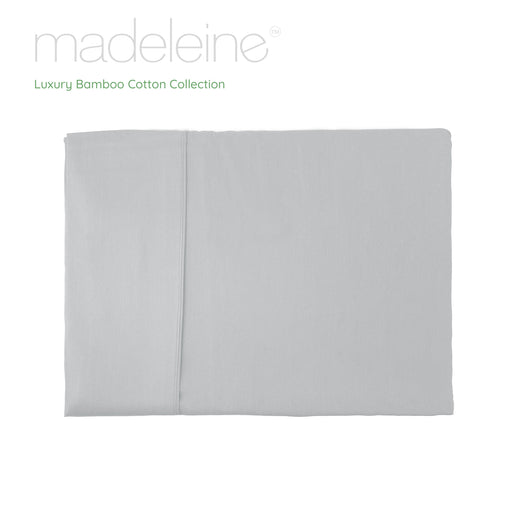 Madeleine Hotel Linen Bamboo Cotton Sheets Set - Silver