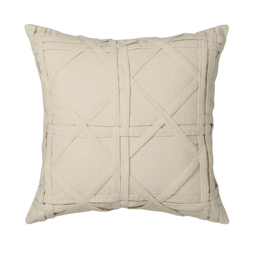 Thai Cane Natural Square Cushion by Florence Broadhurst