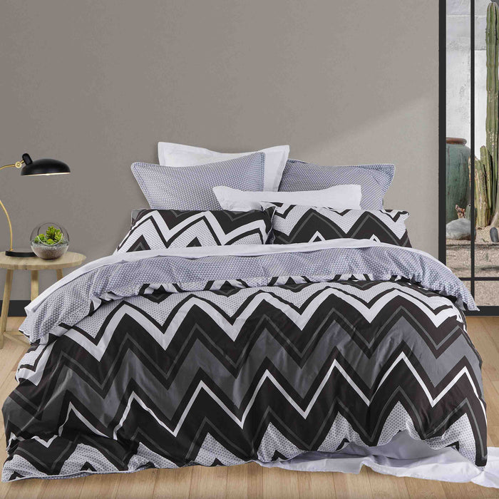 Tycen Black Quilt Cover Set by Private collection