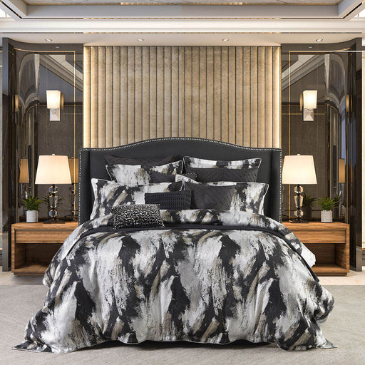 Vasari Black Quilt Cover Set By Davinci