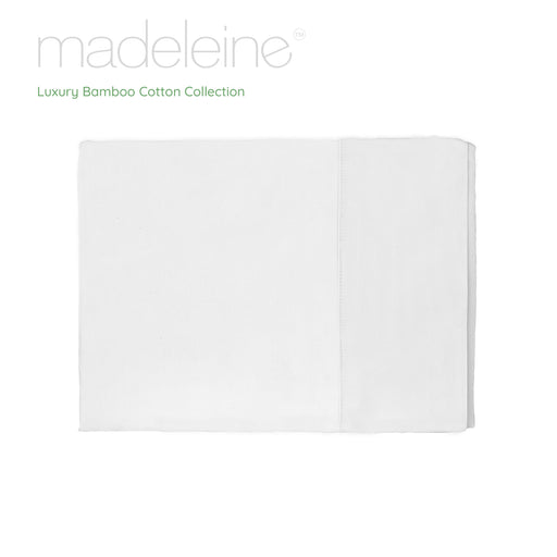 Madeleine Hotel Linen Bamboo Cotton Sheets Set - White