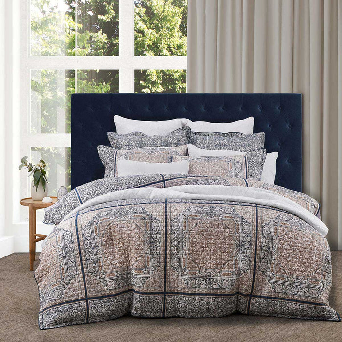 Willard Navy Quilt Cover Set by Private collection