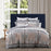 Willard Navy European Pillowcase by Private Collection