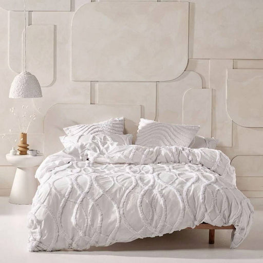 Amadora White Quilt Cover Set by Linen House