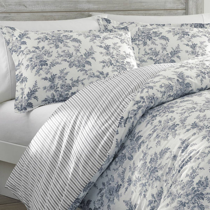 Laura Ashley Annalise SHADOW GREY Quilt Cover