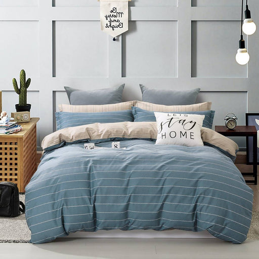 JAMES BLUE QUILT COVER SET BY ARDOR