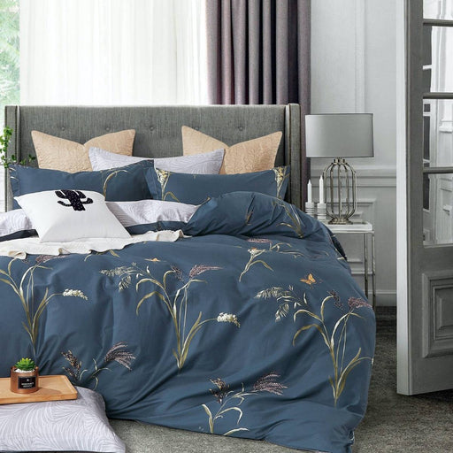 Reed Teal Quilt Cover Set by Ardor