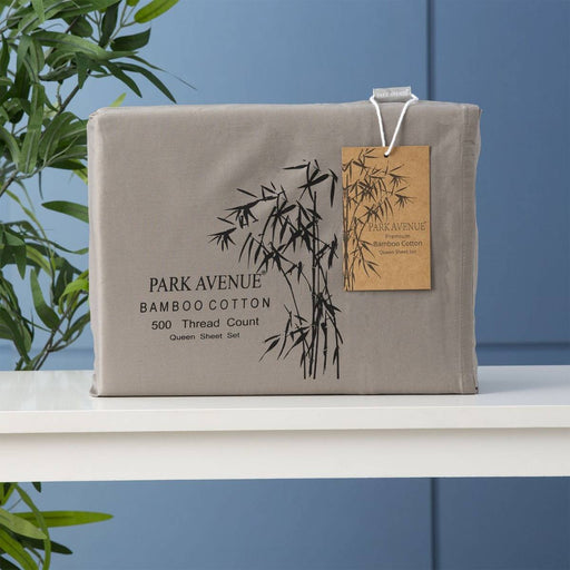 Park Avenue 500 Thread Count PEWTER Natural Bamboo Cotton Sheet Set