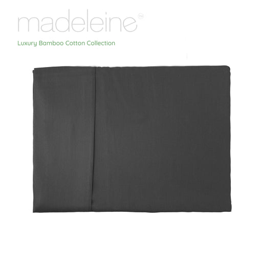 Madeleine Hotel Linen Bamboo Cotton Sheets Set - Granite