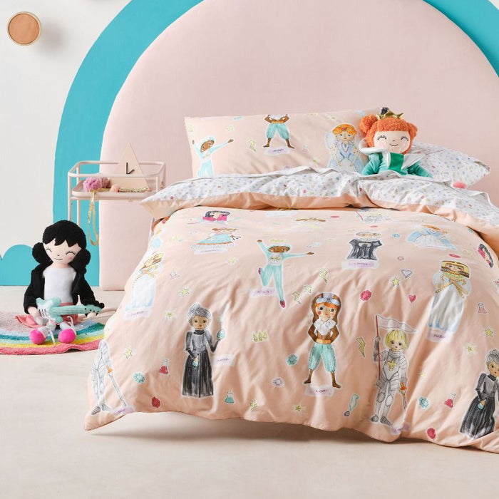 You Go Girl Peach Quilt Cover Set by Hiccups