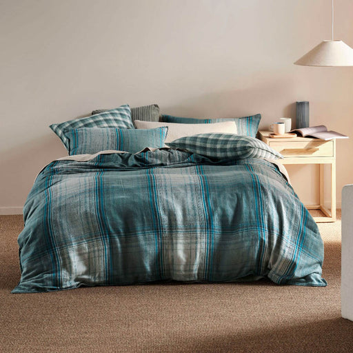 Carricklea Quilt Cover Set Blue by Linen House
