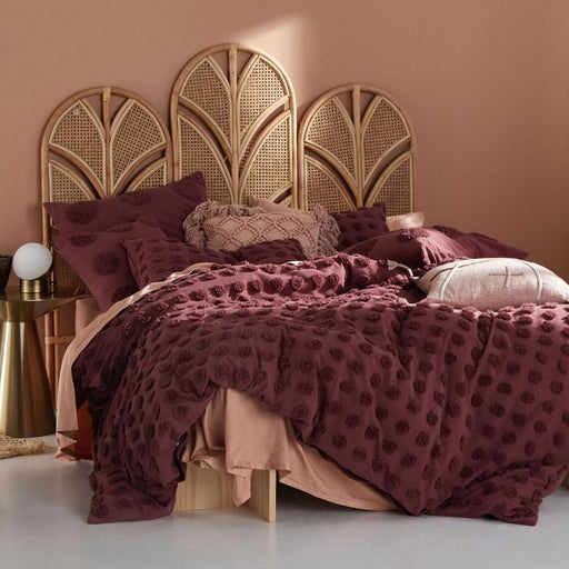 Haze Rhubarb Quilt Cover Set by Linen House