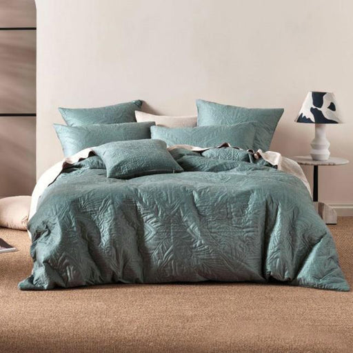 Isadora Quilt Cover Set Petrol by Linen House