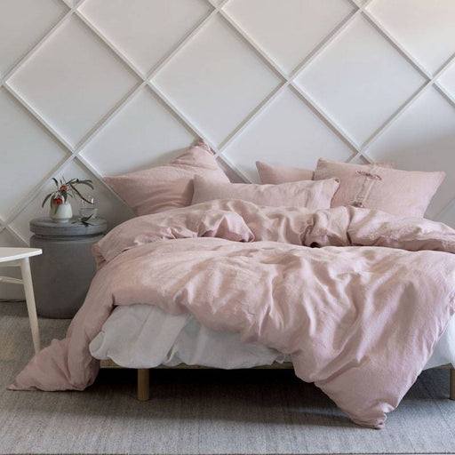Nimes Rose Linen Quilt Cover Set by Linen House