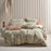 Ojai Sage Quilt Cover Set by Linen House