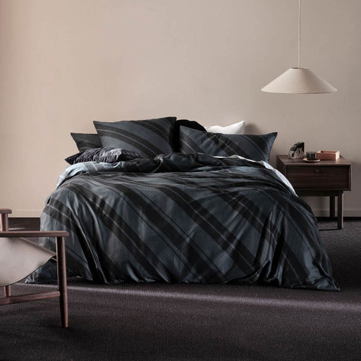 Phoenix Quilt Cover Set Slate by Linen House