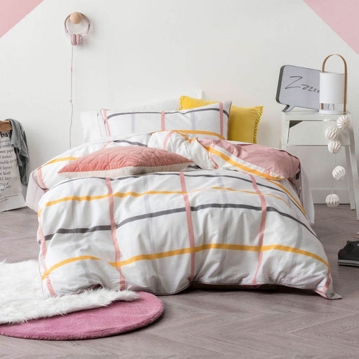 Riley Pink Quilt Cover Set by Hiccups