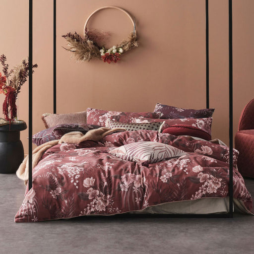 Taira Rhubarb Quilt Cover Set by Linen House